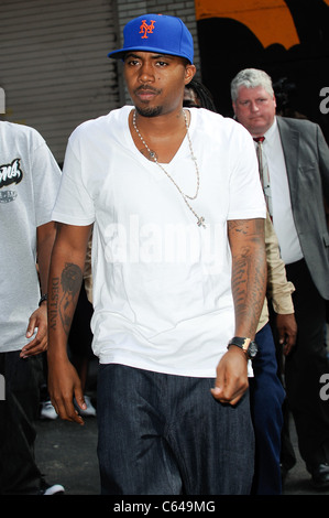 Nas, visits the 'Late Show With David Letterman' at the Ed Sullivan Theater out and about for CELEBRITY CANDIDS - Stock Photo