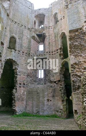 Nunney castle somerset england - Stock Photo