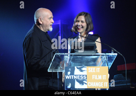 Peter Gabriel, Maggie Gyllenhaal in attendance for WITNESS 6th Annual Focus for Change: Benefit Dinner and Concert, - Stock Photo