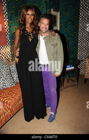 Iman, Carlos Mota out and about for Mercedes-Benz Fashion Week Candids - THU, Lincoln Center, New York, NY September - Stock Photo