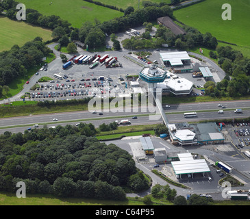 Forton Services on the M6, Near Lancaster, North West England - Stock Photo