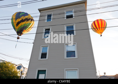 Part of the 2010 Great Falls Balloon Festival in Lewiston / Auburn, Maine. - Stock Photo