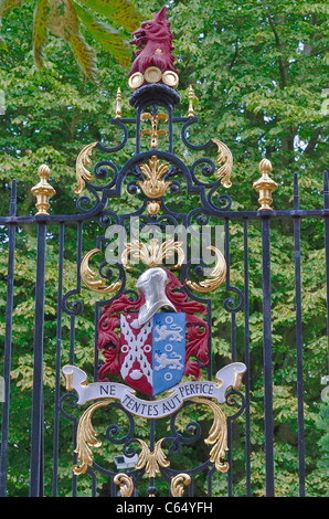 Jesus College gate, Cambridge, England 110704 70263 - Stock Photo