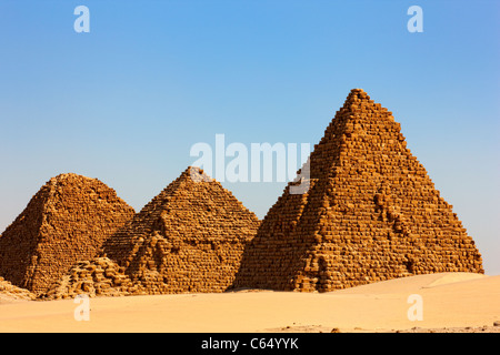 The Pyramids at Nuri, Northern Sudan, Africa - Stock Photo