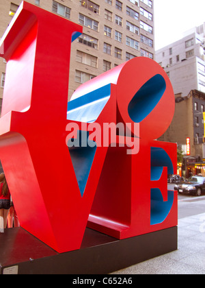 Love sculpture by Robert Indiana in NYC - Stock Photo