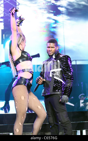 Usher on stage for Usher in the OMG Tour, Mandalay Bay Events Center, Las Vegas, NV November 13, 2010. Photo By: - Stock Photo