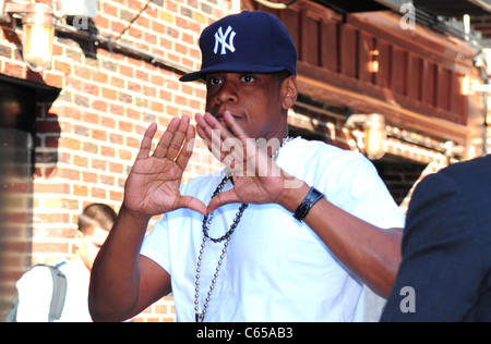 Jay-Z at talk show appearance for The Late Show with David Letterman - MON, Ed Sullivan Theater, New York, NY June - Stock Photo