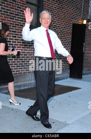 David Letterman at talk show appearance for The Late Show with David Letterman - MON, Ed Sullivan Theater, New York, - Stock Photo