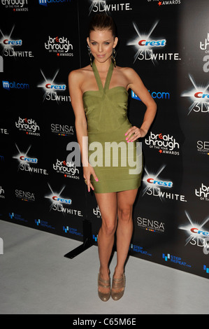 AnnaLynne McCord (wearing a Herve Leger dress) at arrivals for 2010 Breakthrough of the Year Awards, Pacific Design - Stock Photo