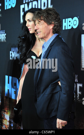 L'Wren Scott, Mick Jagger at arrivals for HBO's BOARDWALK EMPIRE Series Premiere, The Ziegfeld Theatre, New York, - Stock Photo