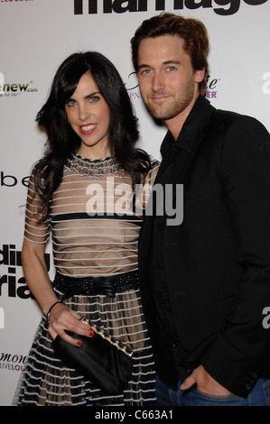 Caprice Crane, Ryan Eggold at arrivals for LOVE WEDDING MARRIAGE Premiere, Pacific Design Center, Los Angeles, CA - Stock Photo