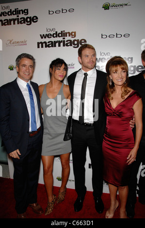 Dermot Mulroney, Jessica Szohr, Kellan Lutz, Jane Seymour at arrivals for LOVE WEDDING MARRIAGE Premiere, Pacific - Stock Photo