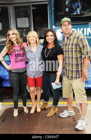 Nadia G, Kelsey Nixon, Rachael Ray, Ben Sargent at arrivals for Cooking Channel First Anniversary Party, Buddakan - Stock Photo