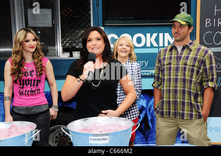 Nadia G, Rachael Ray, Kelsey Nixon, Ben Sargent at arrivals for Cooking Channel First Anniversary Party, Buddakan - Stock Photo