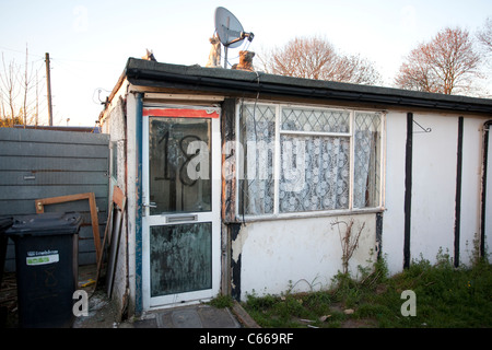 The Excalibur estate in south east London built by German and Italian prisoners of war using panels from decommissioned - Stock Photo