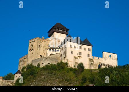 Trenčíansky Hrad the castle, Trenčín city, Slovakia Europe - Stock Photo