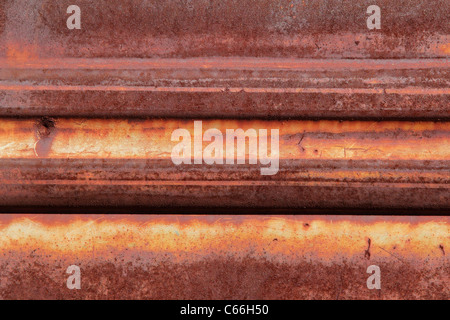 Background of old, rusted metal - Stock Photo