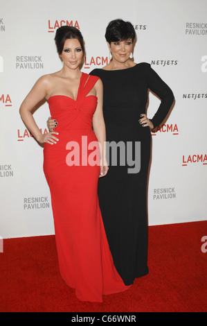 Kim Kardashian, Kris Jenner at arrivals for LACMA Unmasking of The Lynda and Stewart Resnick Exhibition Pavilion, - Stock Photo