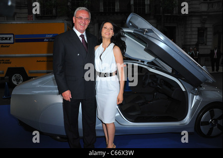 Martin Winterkorn (CEO of Volkswagen Group), Lucy Liu at arrivals for Volkswagen and the Museum of Modern Art Dinner - Stock Photo