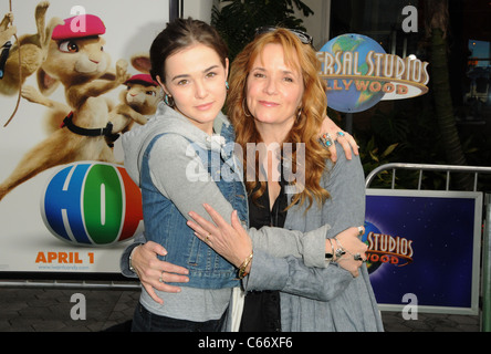 Lea Thompson, Zoey Deutch at arrivals for HOP Premiere, Universal CityWalk, Los Angeles, CA March 27, 2011. Photo - Stock Photo