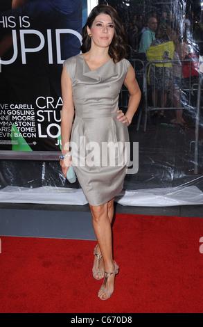 Marisa Tomei at arrivals for Crazy, Stupid, Love. Premiere, The Ziegfeld Theatre, New York, NY July 19, 2011. Photo - Stock Photo