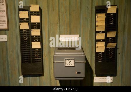 Simplex electric time clock - Stock Photo
