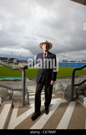 Geoffrey Boycott pictured at Yorkshire County Cricket Club, Leeds, 19th October 2010 - Stock Photo
