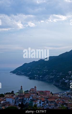 Italy, Amalfitana Coast, sunset on Vietri Sul Mare area - Stock Photo