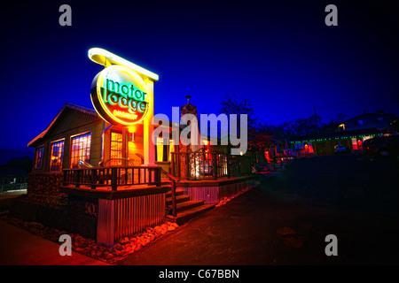 Holiday Inn Hotel Sign At Night Stock Photo Royalty Free