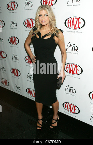 Fergie, wearing a dress by Zac Posen at arrivals for Fergie Hosts at HAZE, Haze Nightclub at ARIA Resort & Casino, - Stock Photo