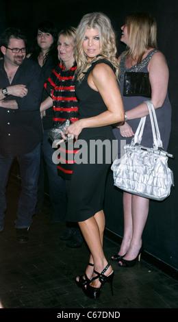 Fergie, wearing a dress by Zac Posen at arrivals for Fergie Hosts at HAZE, Haze Nightclub at ARIA Resort & Casino, - Stock Photo