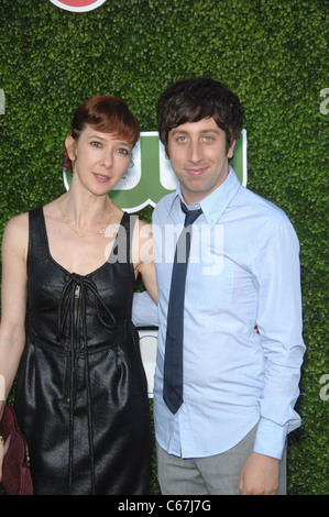Jocelyn Towne, Simon Helberg at arrivals for CBS, The CW and Showtime TCA Summer Press Tour Party, Beverly Hilton - Stock Photo