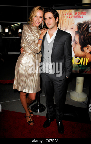 Uma Thurman, Michael Angarano at arrivals for CEREMONY Premiere, Arclight Hollywood, Los Angeles, CA March 22, 2011. - Stock Photo