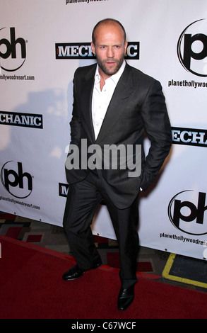 Jason Statham at arrivals for THE MECHANIC Premiere, Planet Hollywood Resort and Casino, Las Vegas, NV January 26, - Stock Photo