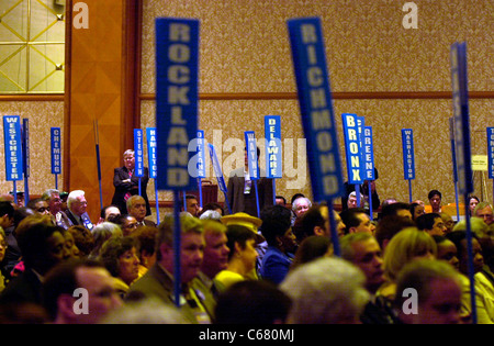 Delegates from all over New York State convene at the NY State Democratic Committee Nominating Convention on May - Stock Photo