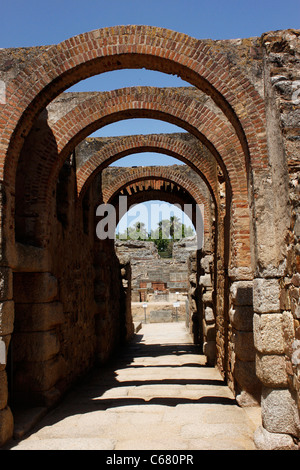 The corridor of the amphitheater of the ruins of the ancient Roman city of Italica, Santiponce,Seville province,Andalusia, - Stock Photo