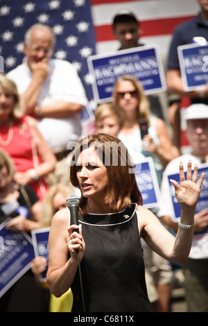 US Republican Presidential candidate Michelle Bachmann campaigns on August 18, 2011 in Columbia, South Carolina. - Stock Photo