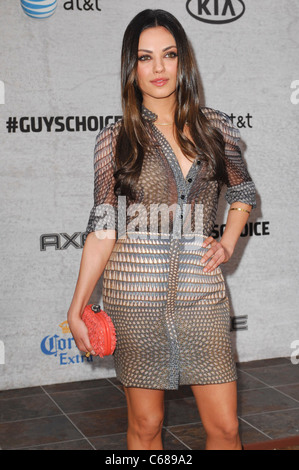 Mila Kunis (wearing a Givenchy dress) at arrivals for Spike TV's 5th Annual Guys Choice Celebration, Sony Pictures - Stock Photo