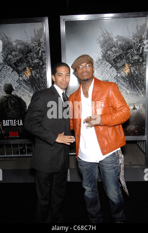 Neil Brown Jr., Ne-Yo at arrivals for BATTLE: LOS ANGELES Premiere, Regency Village Theater, Los Angeles, CA March - Stock Photo