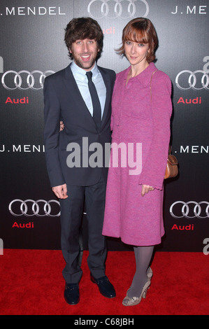 Simon Helberg, Jocelyn Towne at arrivals for Audi Golden Globes Week Kick-Off Party, Cecconi's, Los Angeles, CA - Stock Photo