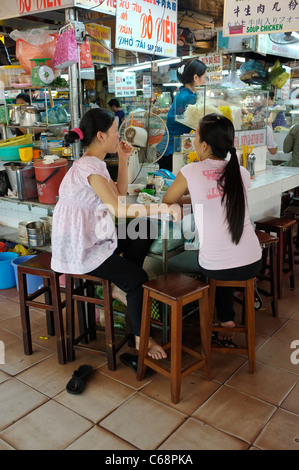 Snack Bar Cafe in Ben Thanh Market in Ho Chi Minh City, Saigon, Vietnam - Stock Photo