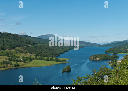 Loch Tummel nr Pitlochry Perth & Kinross Scotland from Queen's View - Stock Photo