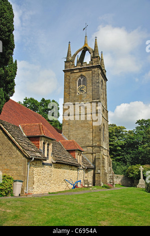 All Hallows Parish Church, Tillington, District of Chichester, West Sussex, England, United Kingdom - Stock Photo