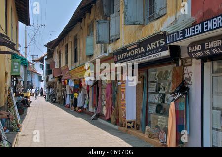 Back street in Jew Town Kochi Kerala South India - Stock Photo