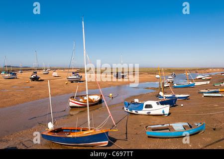 Boats at Wells-next-the-sea , Norfolk , England , Britain , Uk - Stock Photo