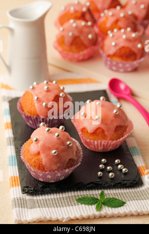Candied cupcakes. Recipe available. - Stock Photo