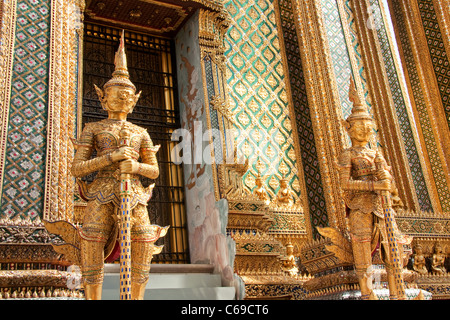 Phra Mondop entrance inside the Grand Palace, Bangkok, Thailand - Stock Photo