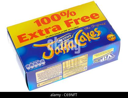 Mcvities Jaffa cakes 100 percent free - Stock Photo