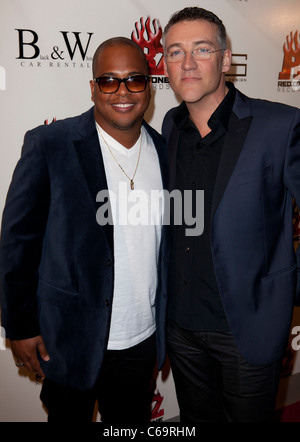Tricky Stewart, Thomas Shoos in attendance for Redzone Entertainment 2011 Grammy Nominations Party, Playhouse Hollywood, - Stock Photo