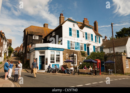 Mermaid Corner Tea Rooms and Old Borough Arms hotel, Rye, East Sussex, England, UK - Stock Photo